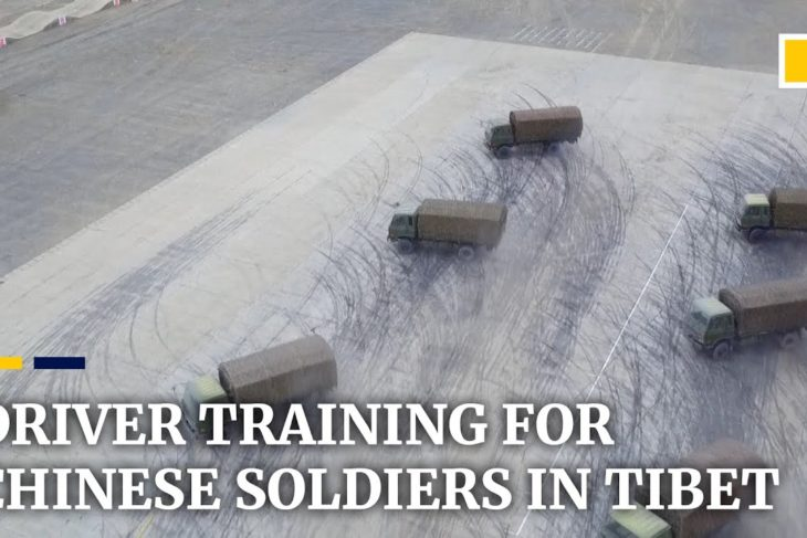 Chinese soldiers sharpen driving skills in Tibet – YouTube