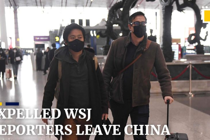 Expelled Wall Street Journal reporters leave China after headline row