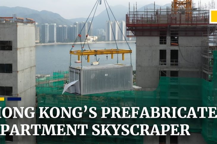 Prefabricated flats quickly take shape in Hong Kong as city tries out new construction technique