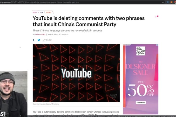 Youtube Just ADMITTED To Censoring People Who Insult The Chinese Communist Party??! Unsurprising –