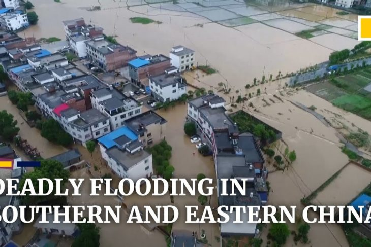 Deadly flooding and fish swim down city streets in torrential rains hit southern and eastern China