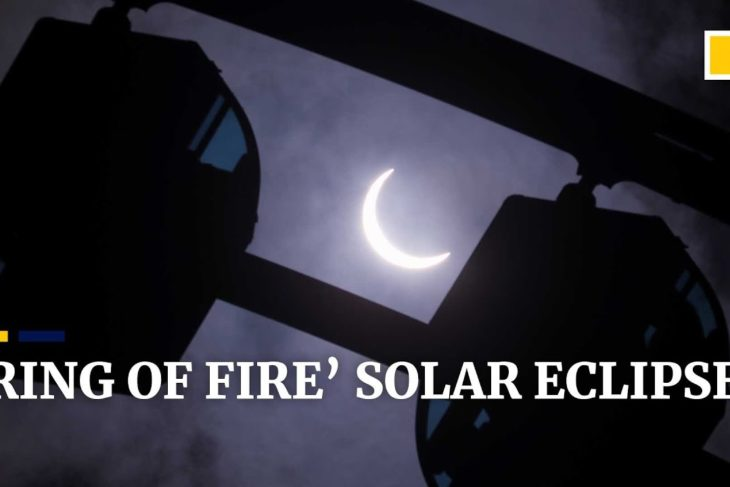 Rare 'ring of fire' solar eclipse seen in Asia and Africa, partially visible in Hong Kong