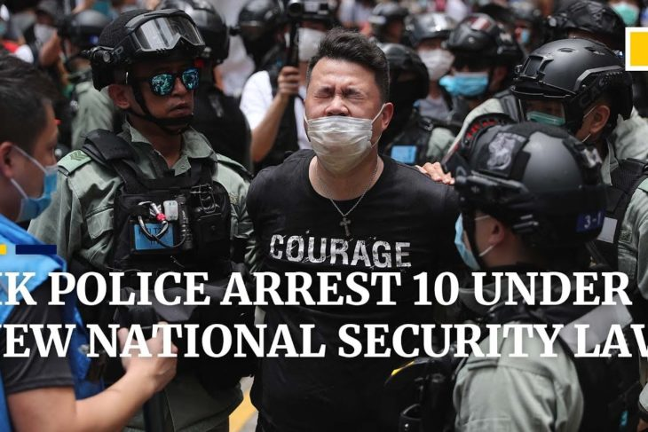 Hong Kong police arrest 10 under new national security law