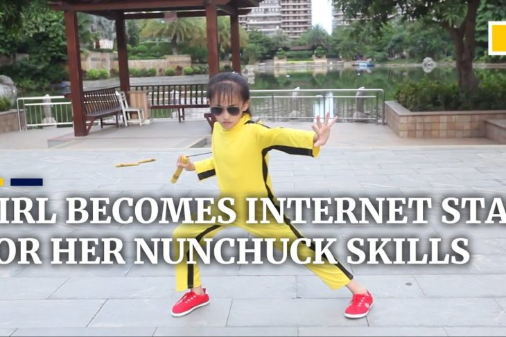 Chinese girl becomes internet star for her nunchuck skills