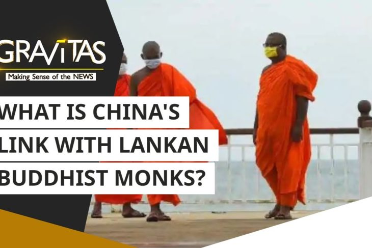 What is China's link with Lankan Buddhist Monks?