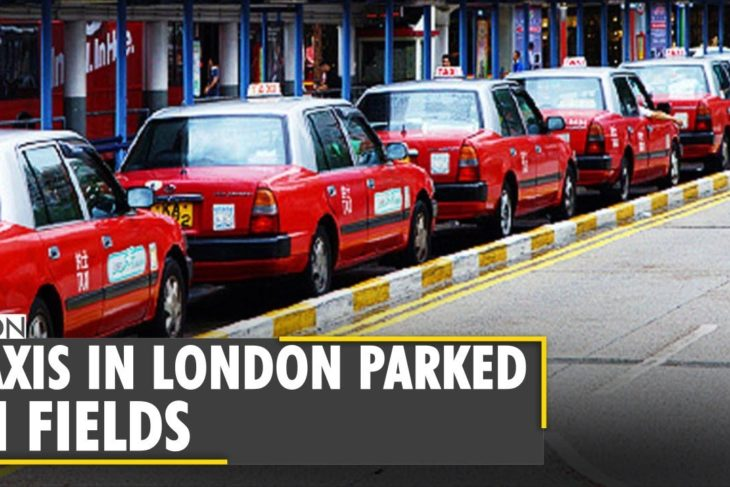 Hong Kong: Taxis parked in fields due to lack of demand amid pandemic