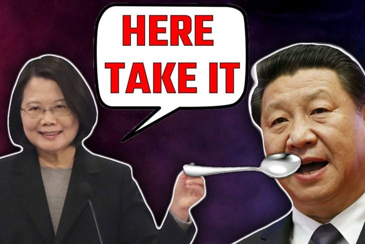 CTi Ban: Tsai Ing-wen takes a tablespoon full of Chinese medicine & shoves it down Jinping's throat