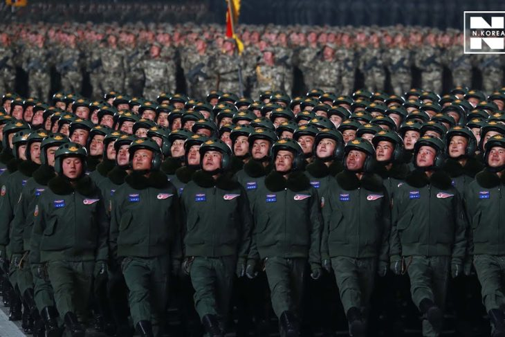 N. Korea holds nighttime military parade, showing new SLBM this time