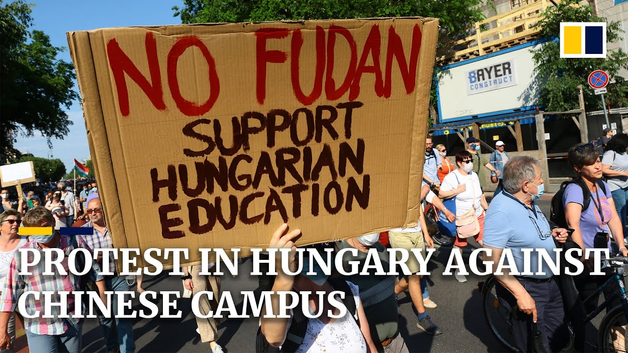 Thousands march in Budapest against plan to build campus for China's Fudan University
